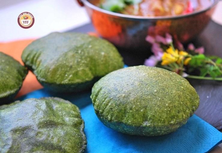 Spinach - Palak Ke Poori Recipe | Your Food Fantasy