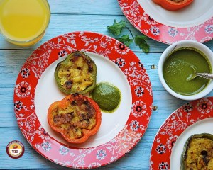 Stuffed bell peppers recipe   Tava fry style - Your Food Fantasy