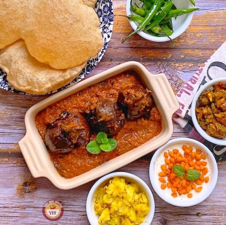 Bharva Baingan Recipe - Stuffed Eggplant Curry | Your Food Fantasy