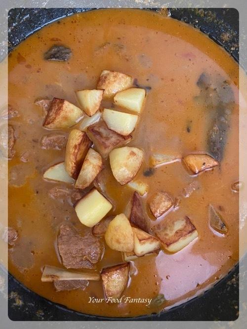 Lamb Potato Curry Recipe Steps