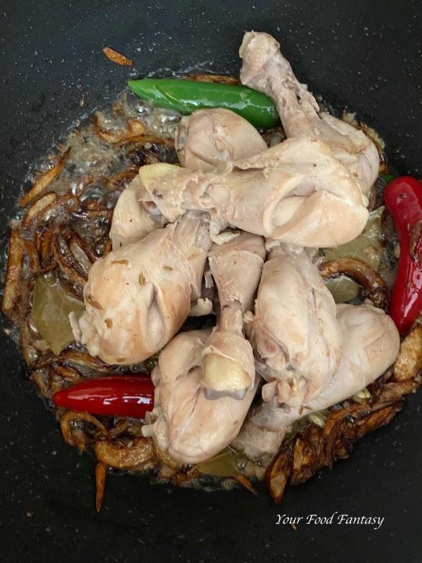 Adding Chicken Pieces