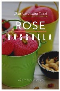 Bengali soft rasgullas in the flavour of rose