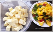 peppers and paneer for chilli paneer at yourfoodfantasy