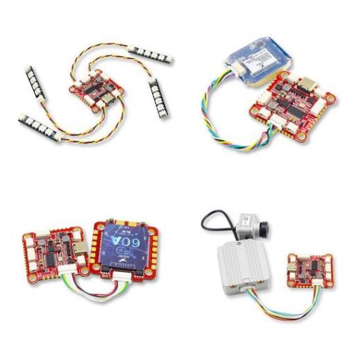 hglrc dji zeusf722 Ports and connectors