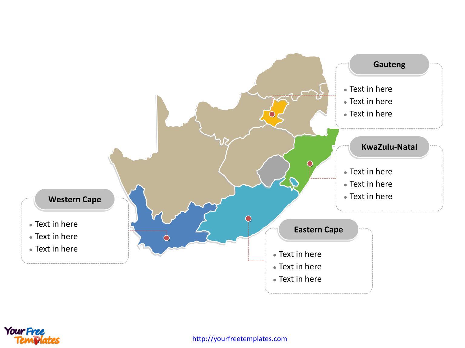 South africa political map Free South Africa Editable Map Free PowerPoint Templates