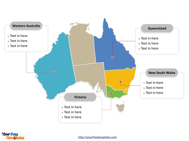 Free Australia Editable Map