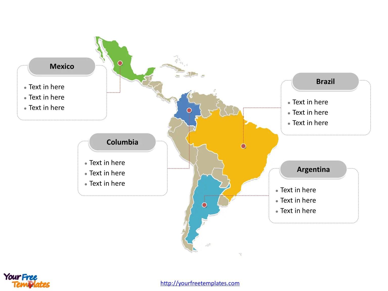 Free Latin America Editable Map