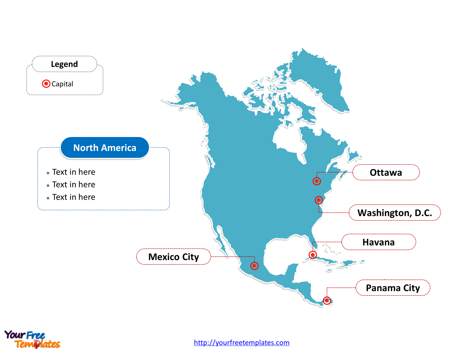 Free North America Map Template