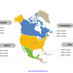 Free North America Map Template Free Powerpoint Templates