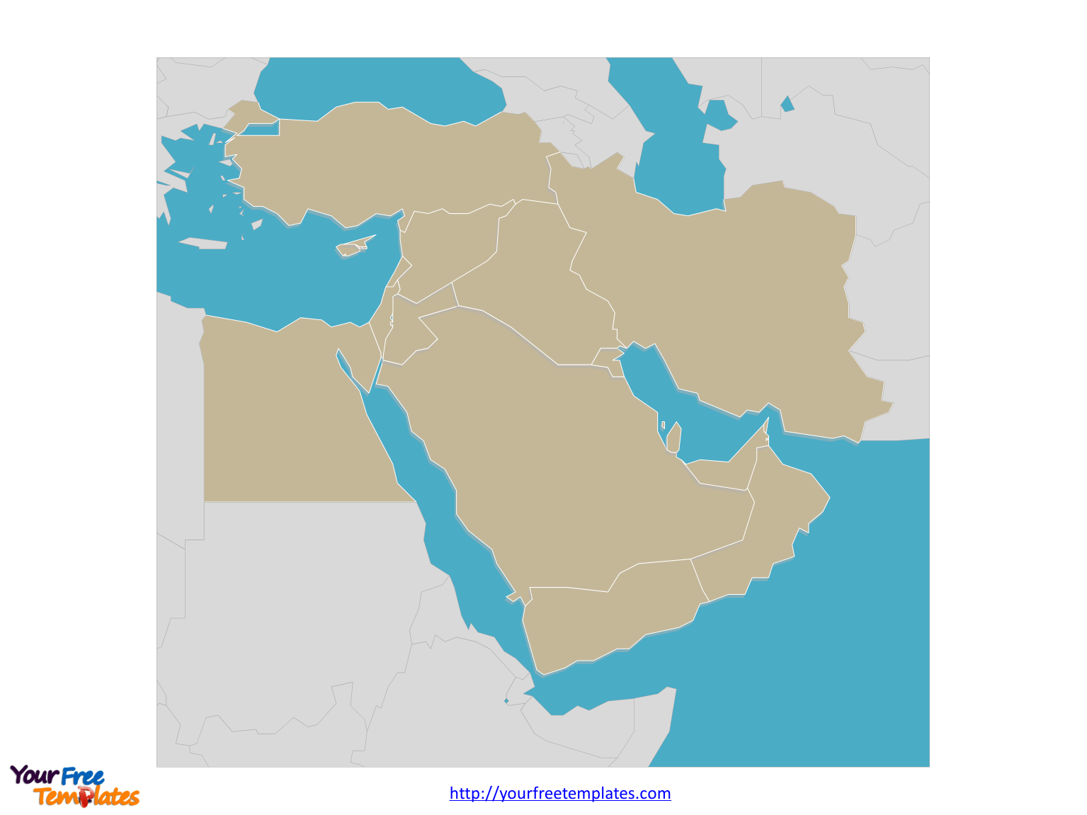 Free Middle East Map
