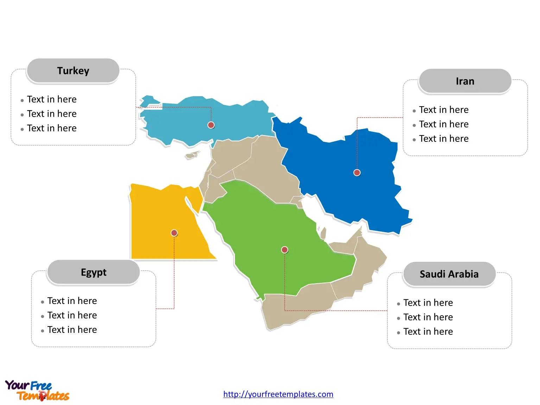 World Map Middle East Worksheet
