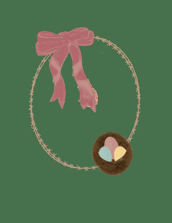 Easter Egg Wreath Digital Download