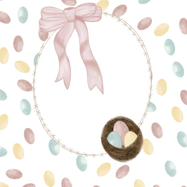 Easter Egg Wreath Digital Download