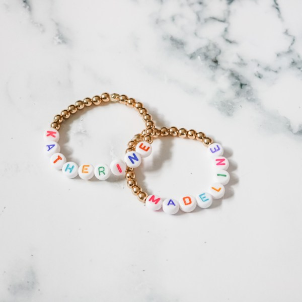 Kids Custom Word Bead Stretch Bracelet