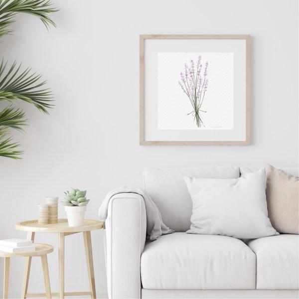 Watercolor Lavender Bunch