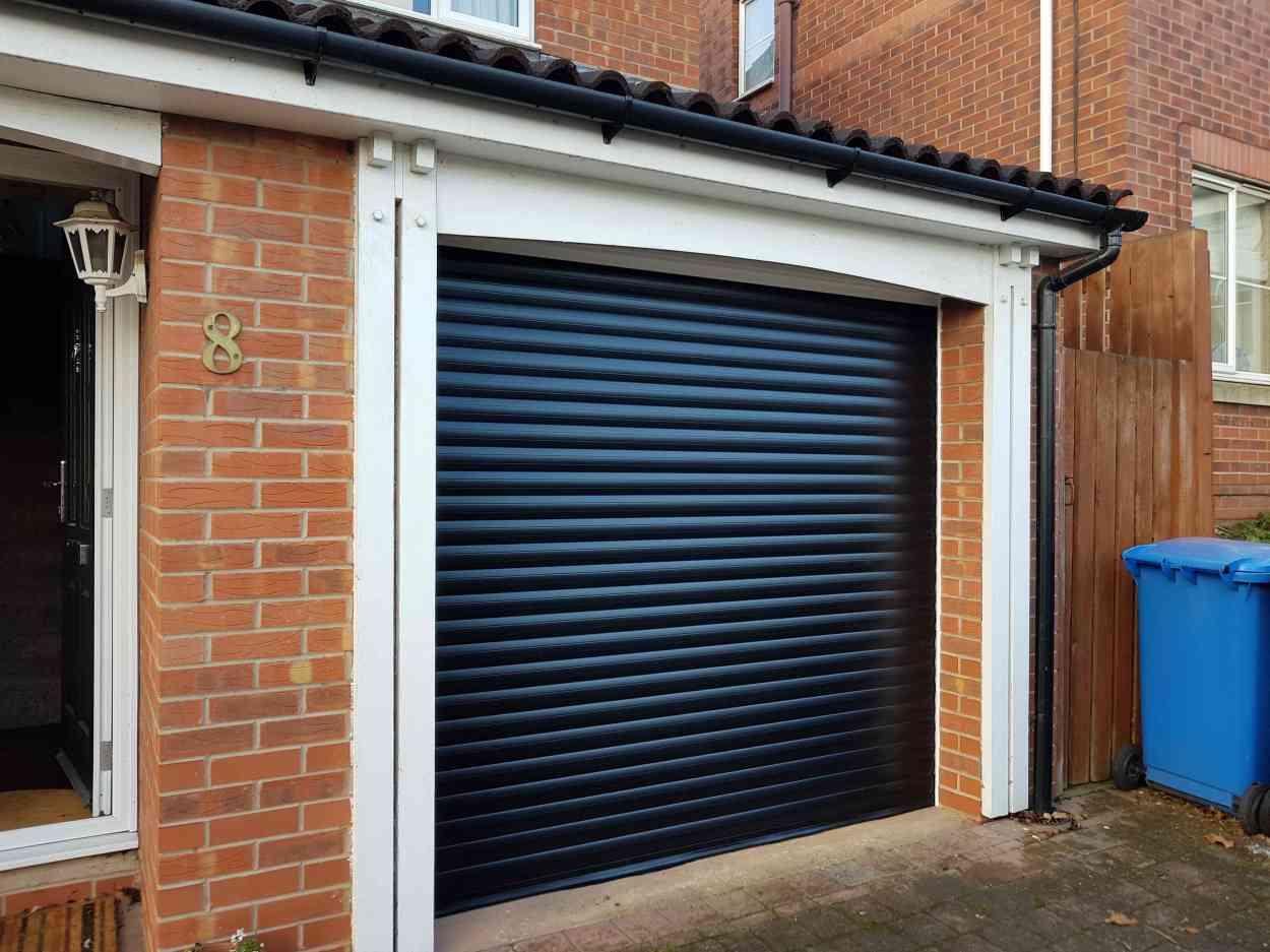 Roller Garage Door in Blue