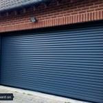 Large blue roller door