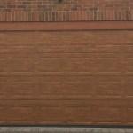 Decograin panelled sectional garage door