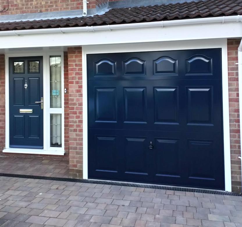 Blue Panelled door