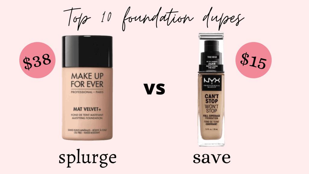 foundation dupes