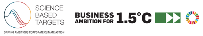 Logo Science-based targets initiative (SBTi) and business ambition 1.5C