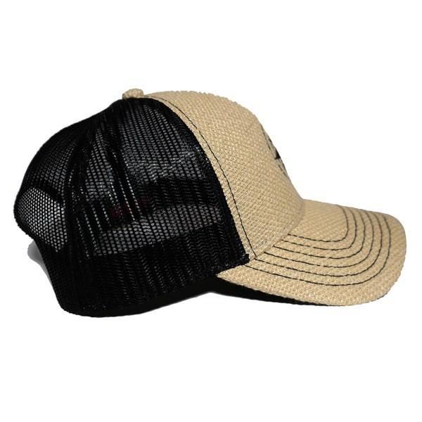 Happier Place Burlap Trucker Hat - H008-HAT-LG-BUR