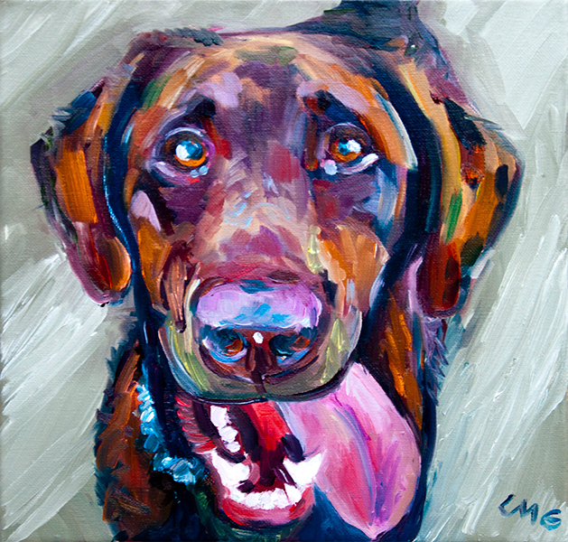 Fred, The Dog - Pet Portrait Painting by Lisa Goldfarb