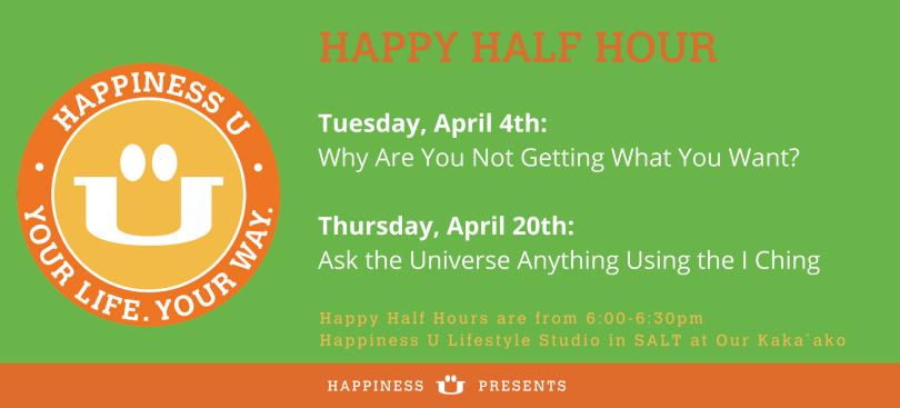 Happiness U Happy Half Hour class April 2017