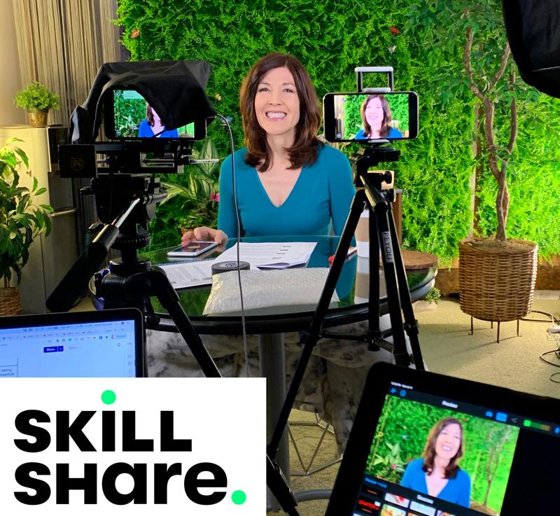 SkillShare with Alice on set