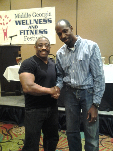 Me with former Mr Universe Yohnnie Shambourger