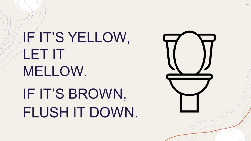 Conserving Water can be as simple as not flushing.