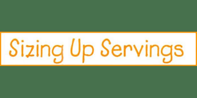 serving sizes banner