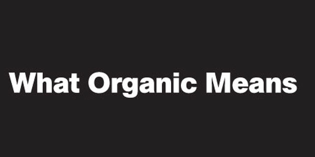 what organic means