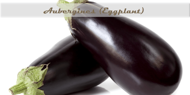 eggplant aubergines