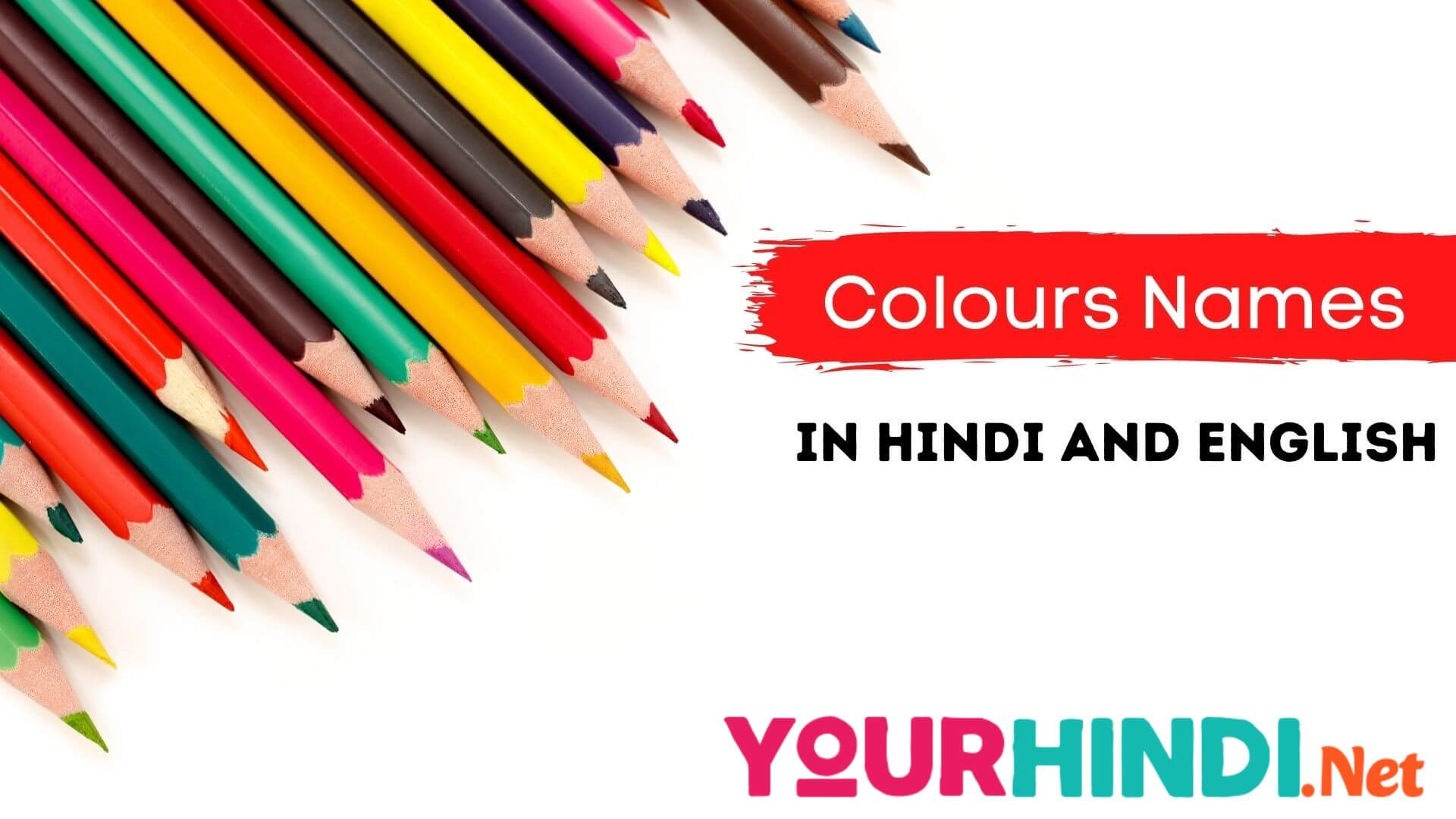 Colours Names in Hindi and English
