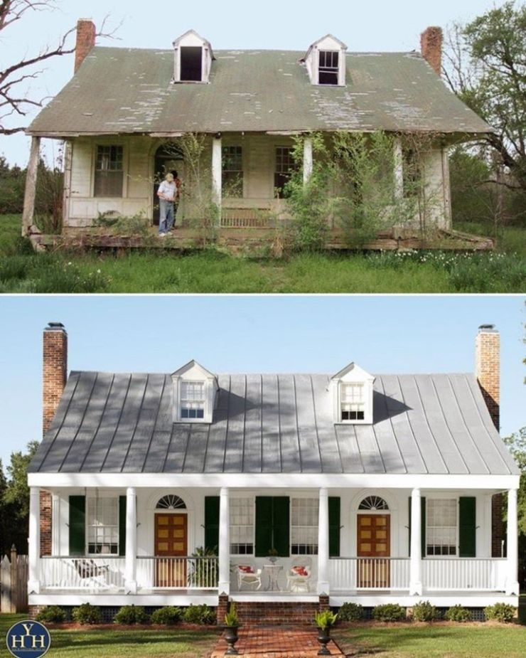 Plantation Style House : plantation, style, house, Before, After, Federal, Style, Plantation, House, Historic