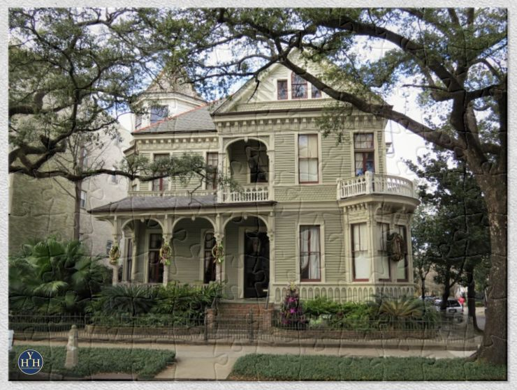 New Orleans Garden District Queen Anne Historic House Puzzle