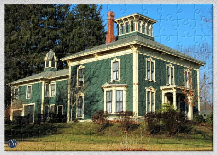 Italianate Villa with Carriage House Puzzle Historic House