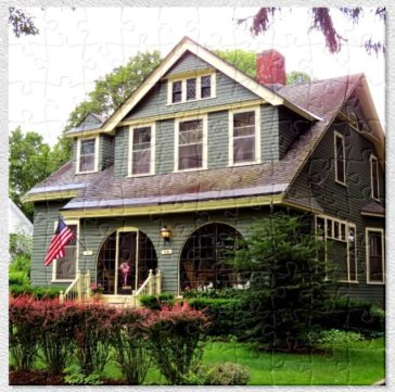 A Cozy Shingle Style Cottage Puzzle Historic House