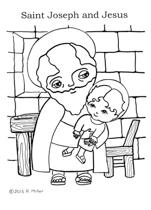 Saint Joseph and Jesus