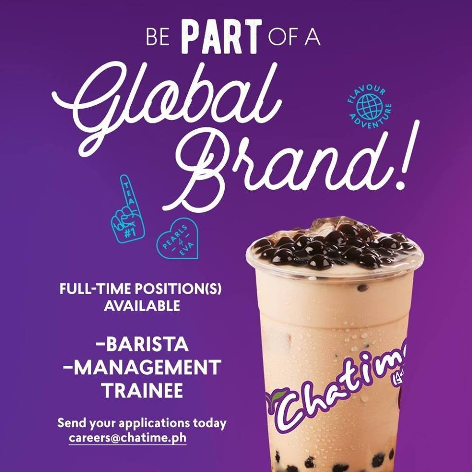 Chatime - Barista and Management Trainee - Your Hospitality Hub