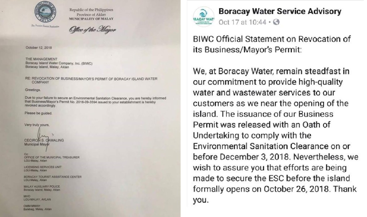 Inside Boracay BIWC Mayor & Business Permits Revoked