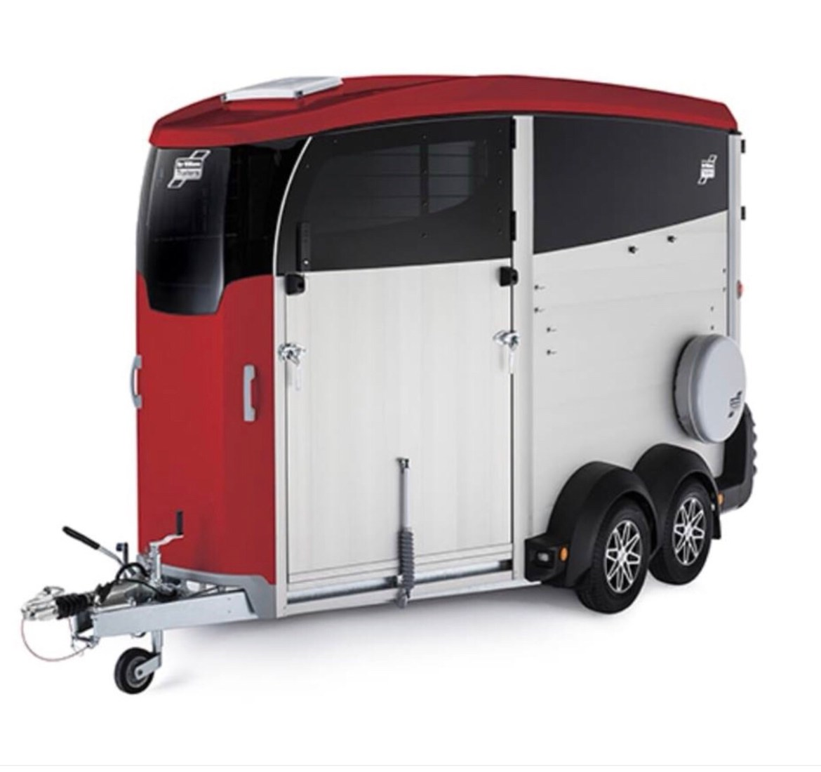 Ifor Williams HBX trailer in red and aluminium.