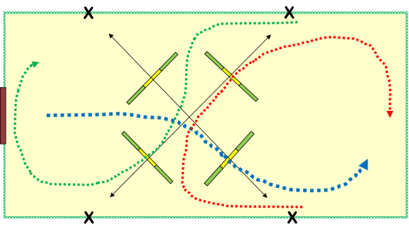 show jumping exercise including doubles