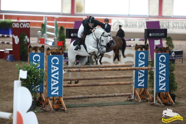 pony marilyn's mist jumping an oxer at cavan