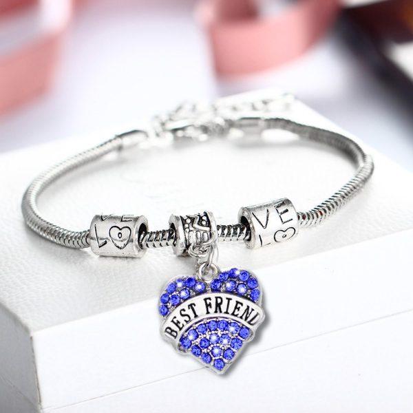 bracelet-ladies-best-friend-silver-blue-crystals-heart