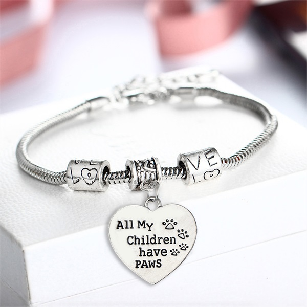 bracelet-ladies-pets-all-my-children-have-paws-silver