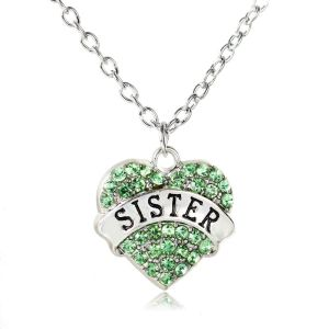 necklace-ladies-sister-green-crystals-heart