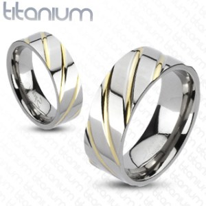ring-ladies-titanium-diagonal-multi-groove-gold-IP-band