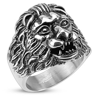 ring-mens-stainelss-steel-grave-lion-wide-cast